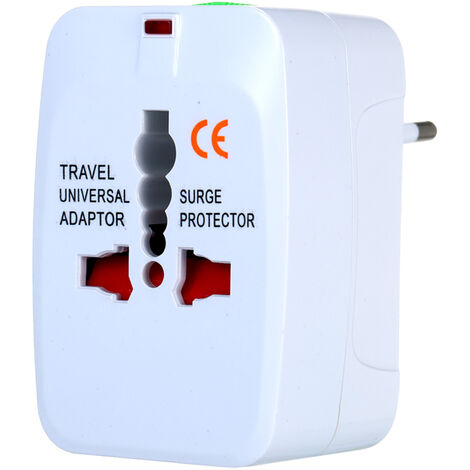 Adaptador de viaje, enchufe universal, adaptador de corriente de viaje mundial, convertidor de enchufe