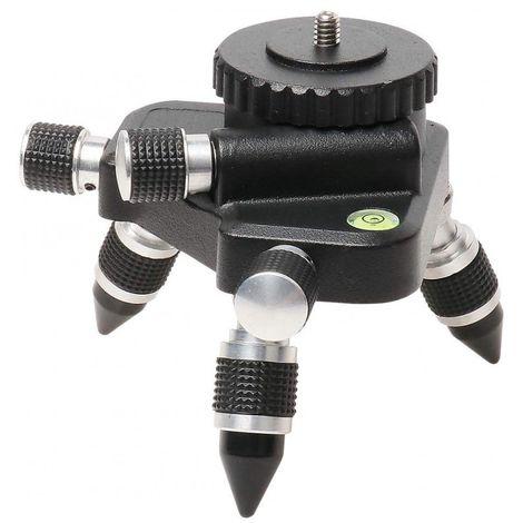 """Adaptador del soporte Huepar AT2 - Base giratoria de 360° para el conector de trípode de nivel láser de línea, con montaje roscado estándar de 1/4"""" - Ajuste de giro fino base giratoria"""