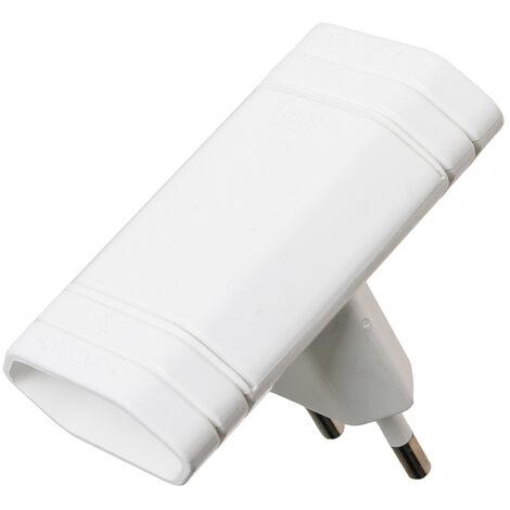 Adaptador doble sin TTL blanco 250V 10A (Solera 6010)