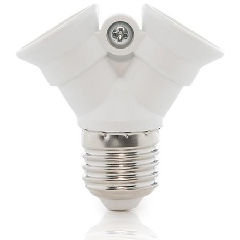 Adaptador E27 a 2 X E14 (KD-ADAPT E27/2XE14)