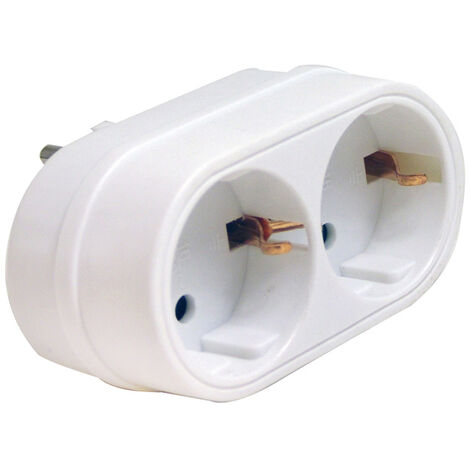 ADAPTADOR ENCHUFE FRONTAL DOBLE BL