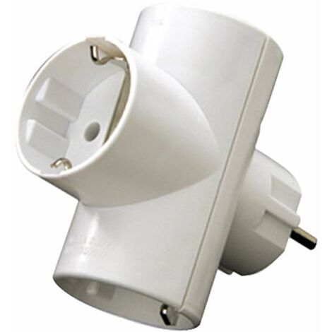 ADAPTADOR ENCHUFE TRIPLE BLANCO