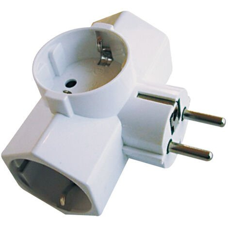 ADAPTADOR ENCHUFE TRIPLE LATERAL16A/250V
