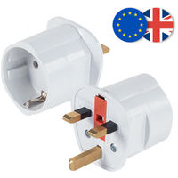 Adaptador Enchufe UK - EUR, ideal para viajar a Reino Unido