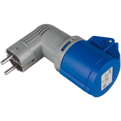 Adaptador inudustrial P+T, 16A, 230V~. IP SOLERA 904011
