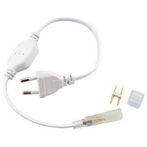 Adaptador para cinta LED de 220V y 8mm para 5050 o 2835 Monocolor