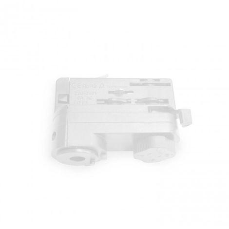 Adaptador para Foco de carril Trifásico color blanco