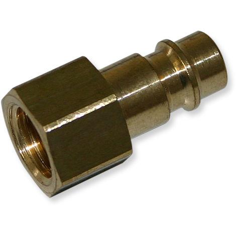 """Adaptador racor para aerógrafo con rosca hembra de 12,91 mm (1/4"""") y acople rápido manguera 12 mm"""