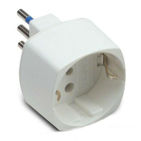 Adaptador schuko Maestro 16A blanco monopresa 05821