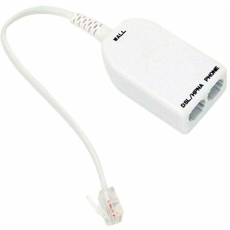 """main image of """"Adaptador Teléfono Cable 2 Entradas 7hSevenOn Elec"""""""