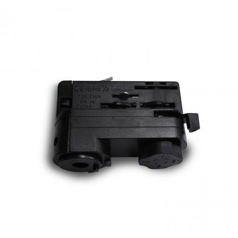 Adaptador Trifásico para Foco de carril color negro