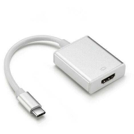 Adaptador USB C a HDMI Hembra Adaptador hembra HDMI Tipo C para todos los dispositivos HDMI como monitores, televisores, portátiles, tabletas y más