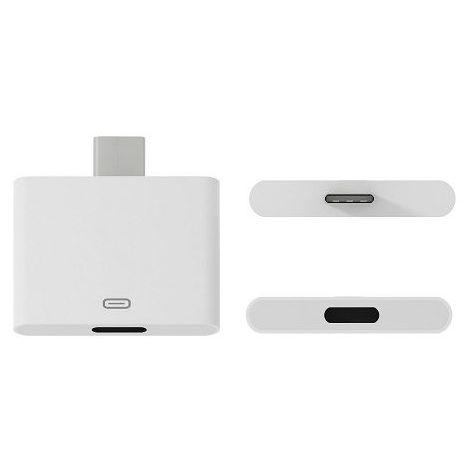 Adaptador USB tipo C 3.1 macho a Lightning hembra Blanco