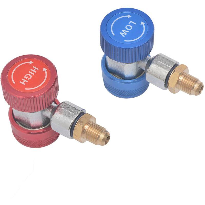 Adaptadores de acoplamiento rápido de refrigerador 2 unidades - Vidaxl