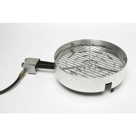 Adaptagrill Convertidor de Paellero de Gas en Barbacoa, Quemador a Barbacoa, 41 cm de diametro, Aluminio - inox
