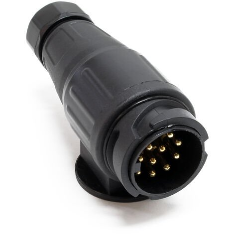 Adaptateur 13 broches pour remorque 12V Fiche pour attelage de remorque Prise de courant Automobile