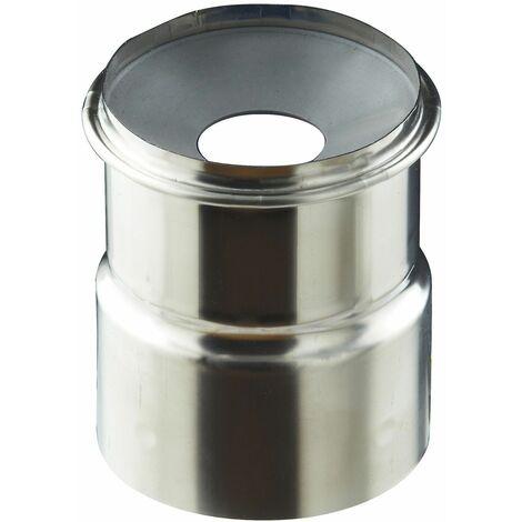 Adaptateur air étanche à membrane conduit flexible - PGI pour poêles à Pellets - Couleur : INOX