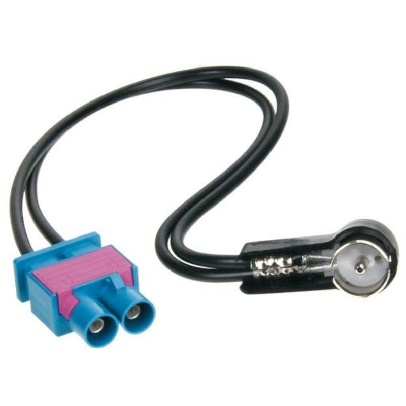Adaptateur Antenne 2X Fakra M ISO M compatible avec Audi Seat VW ap08