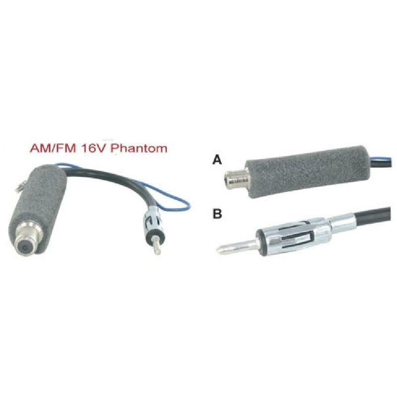Caliber - Adaptateur Antenne - Alimentation Phantom compatible avec Audi Citroen Seat av02 VW av04 - ANT6002