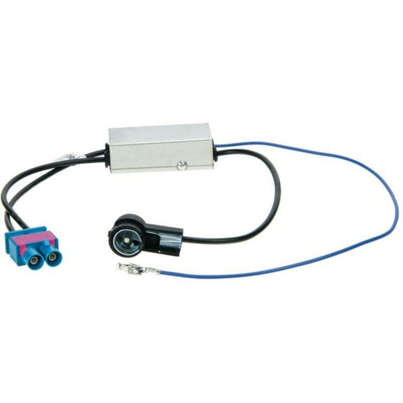 Adaptateur antenne ISO 2 X Fakra Z Alimentation fantome compatible avec Audi Seat Skoda VW ap08