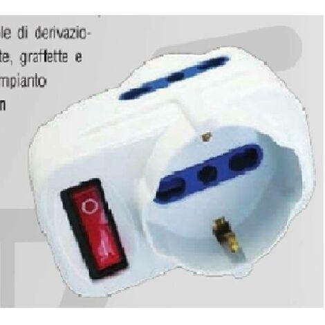 Adaptateur avec interrupteur et plaque de rotation 71033