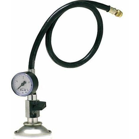 Adaptateur avec manometre 0-4 bar et arret