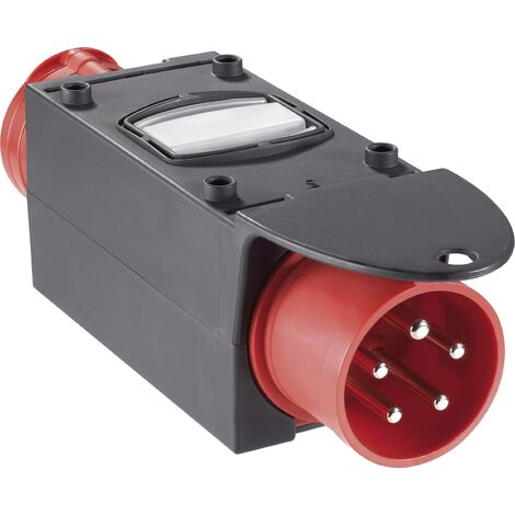 Adaptateur CEE 16 A, 32 A 5 pôles PCE 9437420 400 V rouge, noir 1 pc(s) S31902