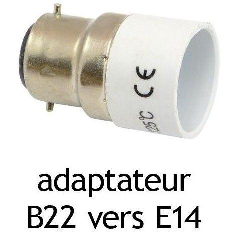 Adaptateur culot B22 vers E14