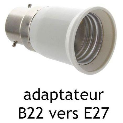 Adaptateur culot B22 vers E27