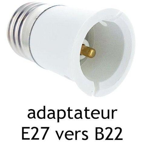 Adaptateur culot E27 vers B22