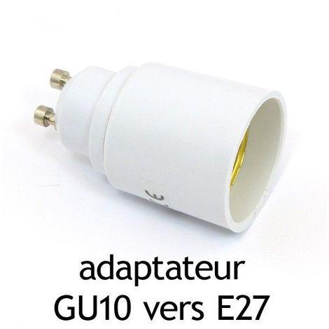 Adaptateur culot GU10 vers E27