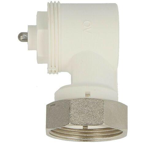 Adaptateur d\'angle Oventrop M 30 x 1,5 des deux côtés, 35 mm, blanc 101 14 50