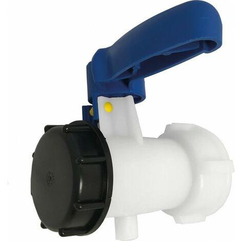 Adaptateur de conteneur IBC avec vanne à bille + couvercle AG 2 (S60x6)