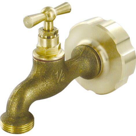 Adaptateur de cuve 1000 litres avec robinet d'arrosage 20x27