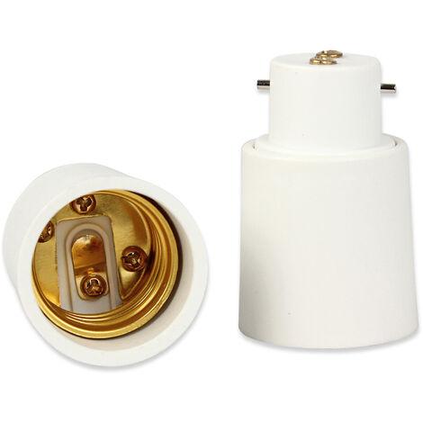 Adaptateur de Douille B22 vers E27 Convertisseur d'Ampoule