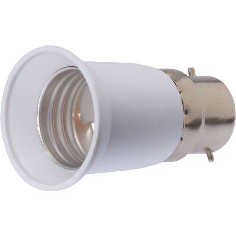 Adaptateur de douille pour ampoule Dhome - Culot B22 vers E27 - Blister - Blanc