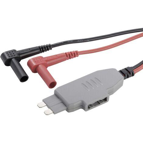 Adaptateur de mesure VOLTCRAFT MS-4 MS-4 coupe-circuit plat pour connecteur mâle - Banane mâle 4 mm manchon isolant noir, rouge 1 pc(s) Q55529