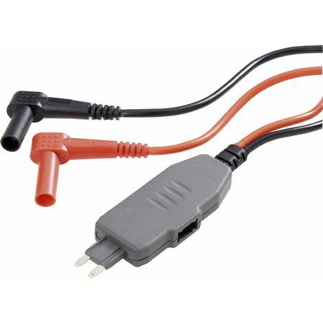 Adaptateur de mesure VOLTCRAFT MS-4S MS-4S mini-coupe-circuit plat pour connecteur mâle - Banane mâle 4 mm noir, rouge 1 pc(s) Q55525