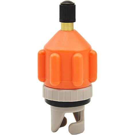 Adaptateur De Pompe Sup Pour Bateau Gonflable, Convertisseur De Pompe A Air, Adaptateur De Valve D'Air, Orange-Gris