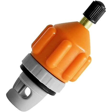 Adaptateur de Valve Sup, Sup Adaptateur Valve, Adaptateur de Vanne dair, Adaptateur de Kayak, pour Canoë Kayak Paddle Board Bateau Pneumatique (Orange)
