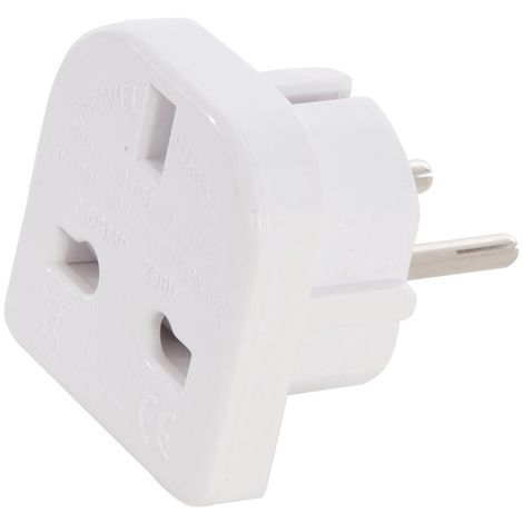 Blanc GEFOM 25371 ADAPTATEUR DE VOYAGE FRANCE MALE 16A+T//ANGLETERRE FEMELLE