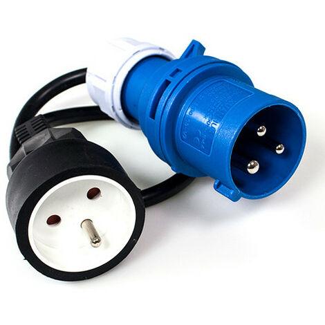 Adaptateur électrique pour borne camping - Mâle CE17 - 16 Ah - 500 mm - IP44 - XL Perform Tools