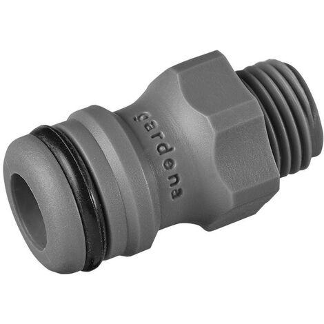 "Adaptateur GARDENA 02920-26 13,16 mm (1/4"") (filet ext.), raccord enfichable Q020011"