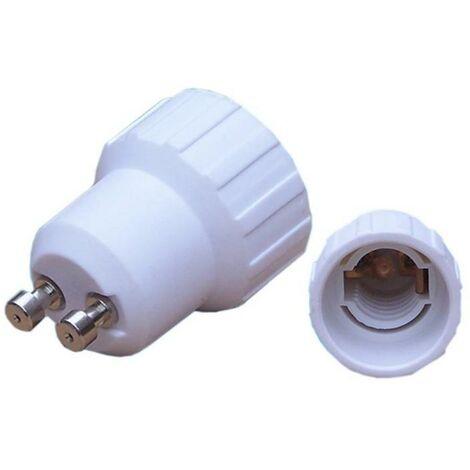 Adaptateur GU10 vers E14 - Blanc - SILAMP