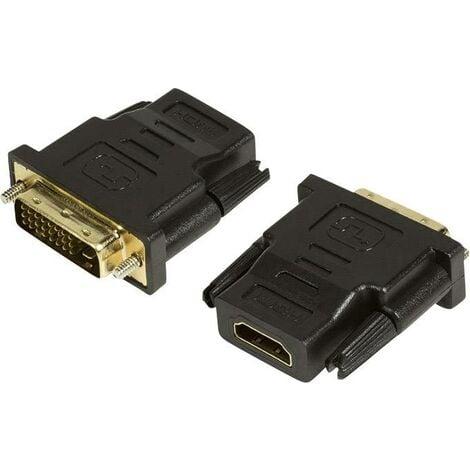 Adaptateur HDMI, DVI LogiLink AH0001 [1x HDMI femelle - 1x DVI mâle 24+1 pôles] noir R07188