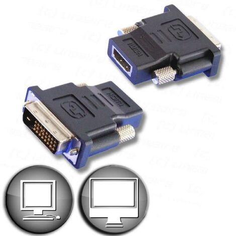france pas cher vente code promo pour toute la famille Adaptateur HDMI femelle / DVI mâle - Lineaire