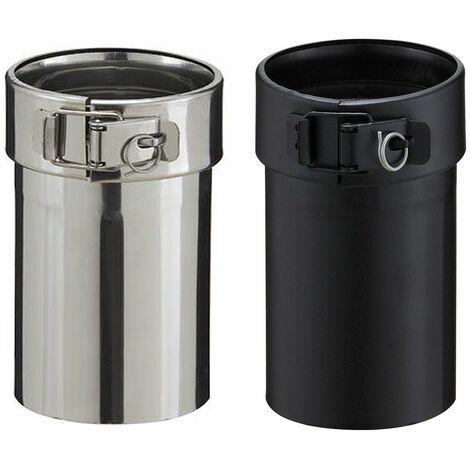Adaptateur inox pour poêle à granulés - PGI pour poêles à Pellets - Diamètre 80/130 - Finition : Noir mat
