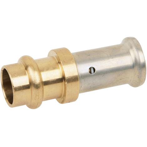 Adaptateur laiton a sertir multicouche TH ou BE O16x2.0-Cuivre V O14
