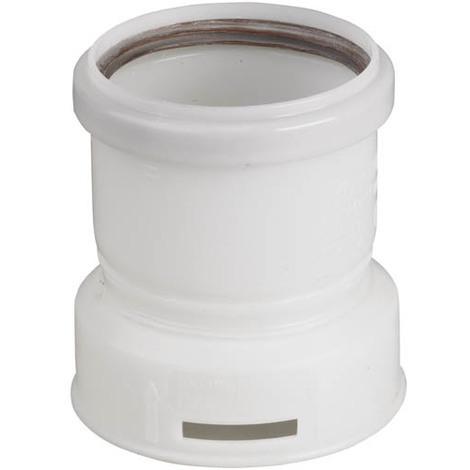 Adaptateur PP flexible/rigide femelle O80mm