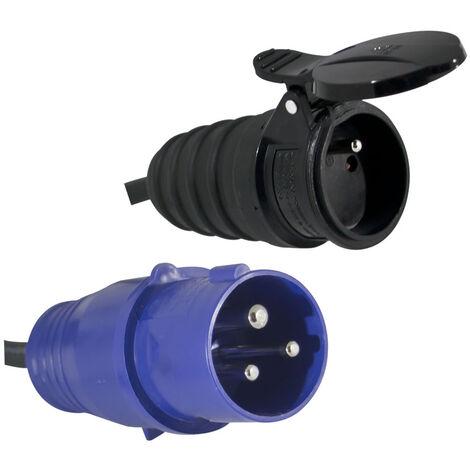 Adaptateur prise mâle CEE IP44 pour borne de camping - câble de 0,3m H07RN-F 3G1.50 mm²